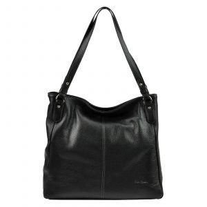 Dámská kožená kabelka Pierre Cardin Alice – černá