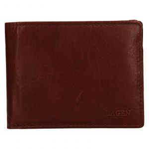 Pánská kožená peněženka Lagen Alexej – hnědá