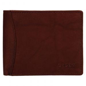 Pánská kožená peněženka Lagen Felixe – hnědá