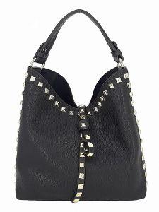 Černá malá kabelka s kosmetickou taštičkou uvnitř