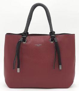 Klasická dámská bordó kabelka DAVID JONES