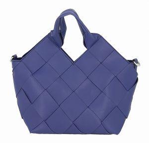 Designová modrá kabelka s kosmetickou taškou