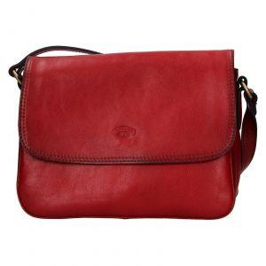 Kožená dámská crosbody kabelka Katana Jarnia – tmavě červená