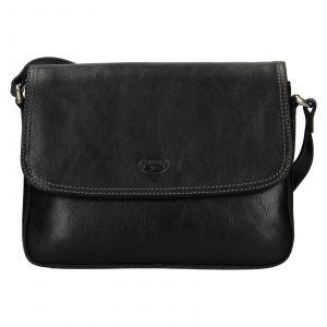 Kožená dámská crosbody kabelka Katana Jarnia – černá