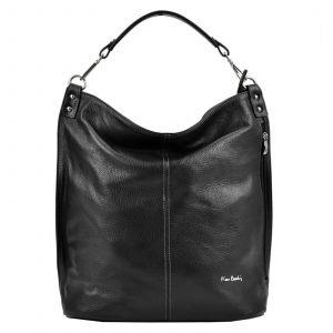 Dámská kožená kabelka Pierre Cardin Nella – černá