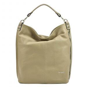 Dámská kožená kabelka Pierre Cardin Nella – béžová
