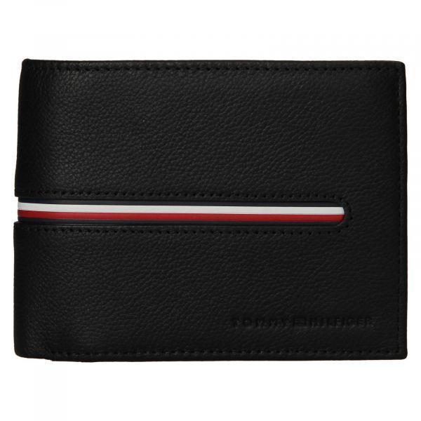 Pánská kožená peněženka Tommy Hilfiger Bruno – černá