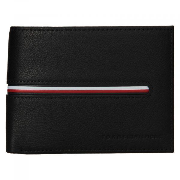 Pánská kožená peněženka Tommy Hilfiger Heinz – černá