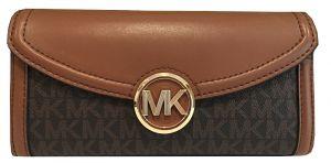 Michael Kors Dámská kožená peněženka Jet Set 192877940890 Brown