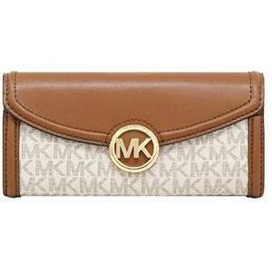 Michael Kors Dámská kožená peněženka Jet Set 192877940883 Vanilla