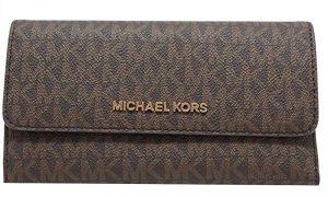 Michael Kors Dámská kožená peněženka 192877938545 Brown signature