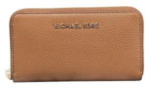 Michael Kors Dámská kožená peněženka Jet Set 191935654137 Luggage