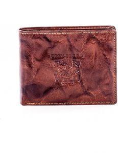 Hnědá pánská vzorovaná peněženka vel. ONE SIZE 124288-443317