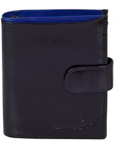 černá pánská peněženka s modrým okrajem vel. ONE SIZE 124294-443323