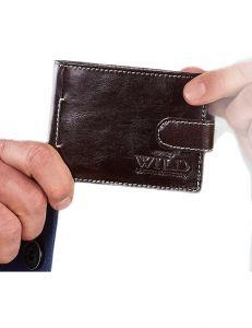 Tmavě hnědá pánská peněženka vel. ONE SIZE 124297-443326