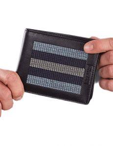 Modro-černá pánská peněženka s pruhy vel. ONE SIZE 124299-443328