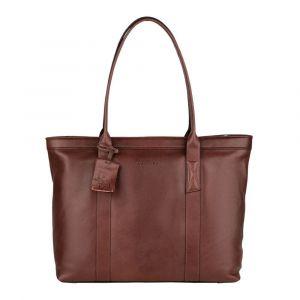 Dámská kožená kabelka Burkely Wide – tmavě hnědá
