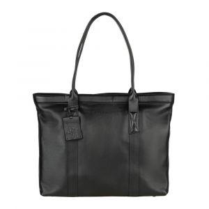 Dámská kožená kabelka Burkely Wide – černá