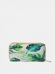 Clayre & Eef zeleno-bílá peněženka