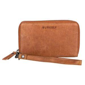 Dámská kožená peněženka Burkely Wristlet – hnědá