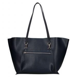 Dámská kožená kabelka Facebag 2v1 – tmavě modrá