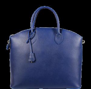 Italská kožená kabelka Ofelia Blu Marina