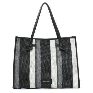 Dámská kabelka Emily & Noah Esther – černo-bílá