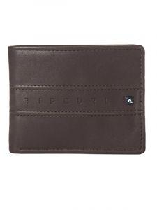 Rip Curl WORD BOSS PU ALL DAY brown pánská značková peněženka – hnědá