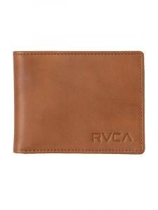 RVCA CREST BIFOLD TAN pánská značková peněženka – hnědá