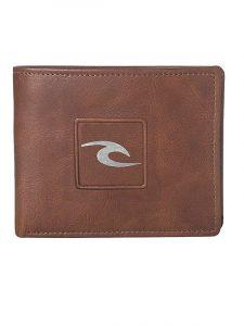 Rip Curl RIDER RFID ALL DAY brown pánská značková peněženka – hnědá