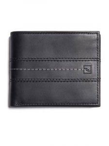 Rip Curl STITCH ICON RFID 2 I black pánská značková peněženka – černá