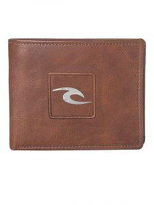 Rip Curl RIDER 2 IN 1 brown pánská značková peněženka – hnědá