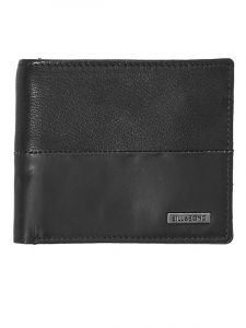 Billabong FIFTY50 ID LEATHER black pánská značková peněženka – černá
