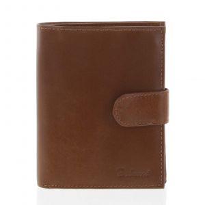 Pánská kožená světle hnědá peněženka se zápinkou – Delami Lunivers hnědá