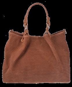 Hnědá kožená kabelka Belloza Marrone