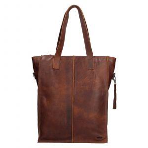Dámská kožená kabelka Justified Monic – hnědá