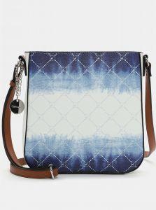 Modro-bílá vzorovaná crossbody kabelka Tamaris