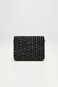 Moodo černá crossbody kabelka se stříbrným řetízkem