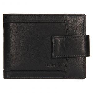 Pánská kožená peněženka Lagen Jacki – černá