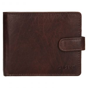 Pánská kožená peněženka Lagen Ivan – tmavě hnědá