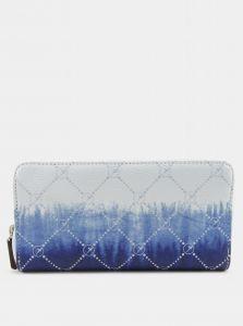 Modro-bílá vzorovaná peněženka Tamaris