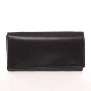 Kvalitní dámská kožená černá peněženka – Delami BAGL04104 černá