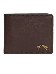 Billabong ARCH ID LEATHER CHOCOLATE pánská značková peněženka – hnědá