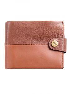 Rip Curl SNAP CLIP RFID 2 IN brown pánská značková peněženka – hnědá