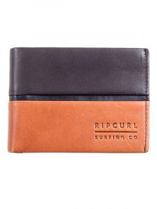 Rip Curl STRINGER RFID ALL DA brown pánská značková peněženka – černá