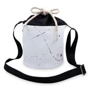 Xiss bílá crossbody kabelka Mini White Splash