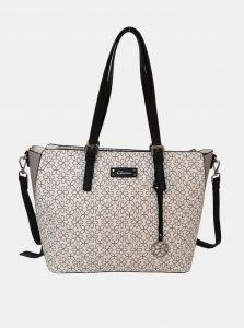 Bílá vzorovaná kabelka Gionni