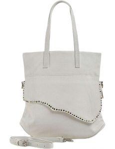 Bílá shopper kabelka s ozdobnou klopou vel. ONE SIZE 131463-475185