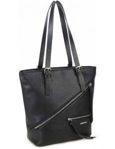 černá shopper kabelka se zipy vel. ONE SIZE 131486-475208