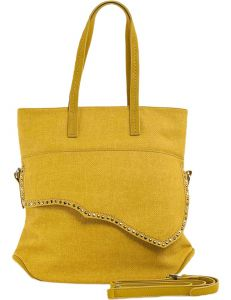 žlutá shopper kabelka s ozdobnou klopou vel. ONE SIZE 131487-475209